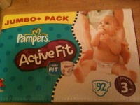 Couches Pampers Active Fit. Jumbo box T3 x92