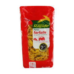 Cuisson rapide - Farfalle 3 minutes.