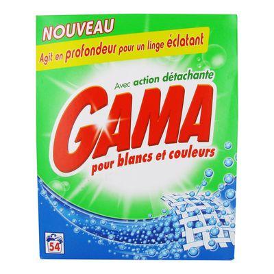 lessive en poudre gama 54 doses tous les produits poudre et liquide prixing. Black Bedroom Furniture Sets. Home Design Ideas