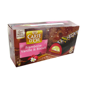 Carte d'Or bûche vanille 565g