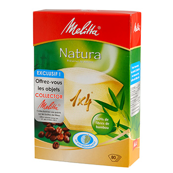 Filtres a cafe Melitta 1x4 Natural x80