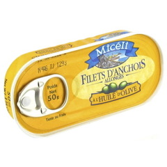 Filets d'anchois allonges a l'huile d'olive MICELI, 50g