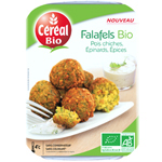 Falafels bio pois chiches, epinards et epices