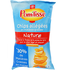 Chips allegees Pom'Lisse Nature 120g