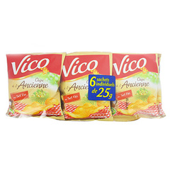 Vico chips a l'ancienne finement salees 6x25g
