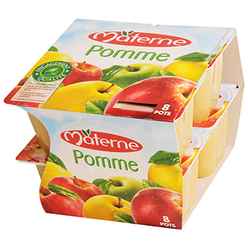 Compotes Materne Pomme nature 8x100g