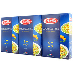 BARILLA LOT COQUILLETTES 500G X 3