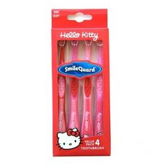 Ensemble de 4 brosses à dents Hello Kitty