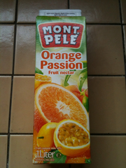 Nectar d'orange et passion MONT PELE, brique de 1l