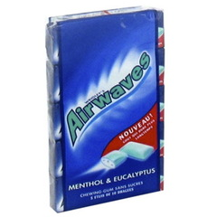 Chewing gums Airwaves mentol Eucaliptus 5x14g