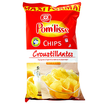 Chips Pom'lisse nature 350g