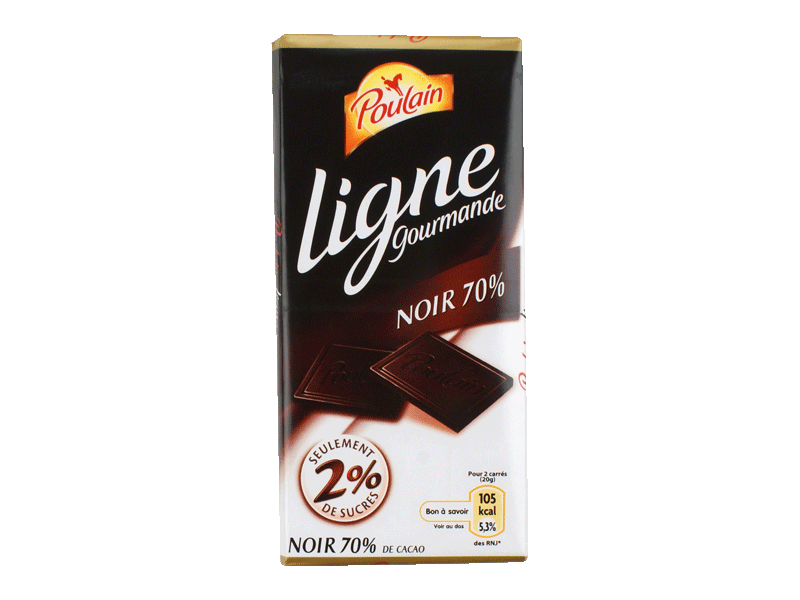 chocolat poulain ligne gourmande noir 70 cacao 100g tous les produits tablettes de chocolat. Black Bedroom Furniture Sets. Home Design Ideas