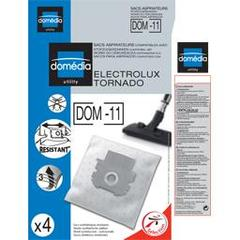 Sacs aspirateurs DOM-11 compatibles Electrolux, Tornado, le lot de 4 sacs synthetiques resistants