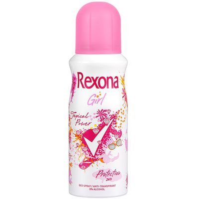Deodorant Tropical Power REXONA Girls, 150ml