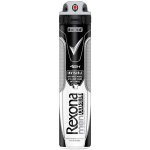 Déodorant invisible men black et white REXONA, spray de 200ml