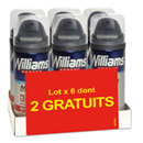 Williams mousse à raser peau sensible 4x200mls