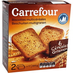 Biscottes multi-cereales, 6 cereales