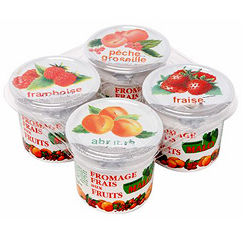 Fromage frais Malo Fruits 40%mg 4x100g