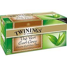 The vert Earl Grey TWININGS, 25 sachets, 40g
