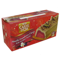 Buche glacee Carte D'Or Vanille cassis framboise 1l