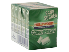 Hollywood Dragees sans sucre green fresh 5x10 dragees 72.5g