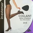 In Extenso collant voile lycra semi opaque 25d noir taille 4
