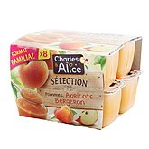 Compotes Charles et Alice Pomme/abricot - 8x100g