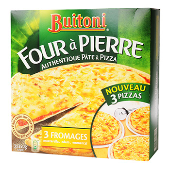 Pizza Four a Pierre Buitoni 3 fromages x3 1.05kg