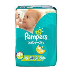 Couches Pampers Baby Dry Géant T4 + x39