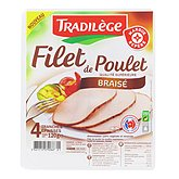 Filet de poulet Tradilège Braise 4 tranches 120g