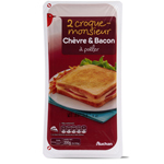 Auchan croque monsieur chevre & bacon a poeler x2-100g