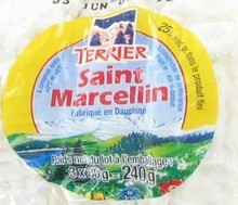 Rouleau de 3 saint marcellin, la portion de 240 gr