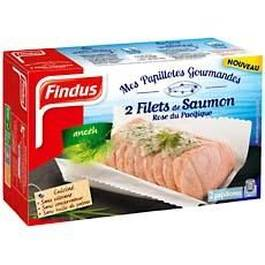 Mes Papillotes gourmandes filets de saumon rose du pacifique a l'aneth FINDUS, 2 unites, 250g