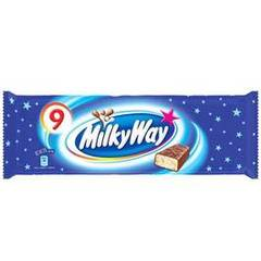 Milky way, Barre chocolatee, le pack de 9 - 193 gr