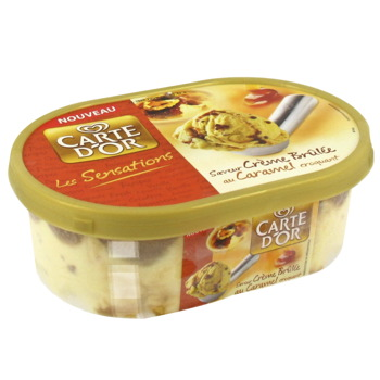 Glace Carte d'Or Sensation Creme brulee bac 900ml