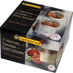 Capitaine Cook, Verrines de tomates et Saint-Jacques, les 4 verrines de 45 g