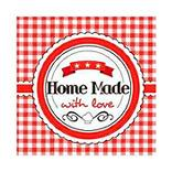 SERVIETTE 3 PLIS BISTRO RED HAPPY PAPER 25X25CM X20