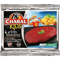 Biftecks Les P'tits Tendres CHARAL, 2x80g