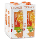 Auchan jus d'orange à base de concentré 4x1l