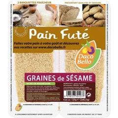 Graines de sesame decortiquees, 2x62,5g