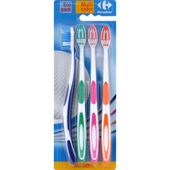 Brosse a dents medium, eco pack , Multicolor
