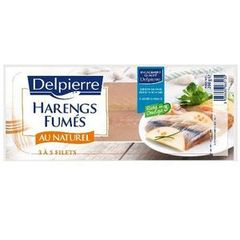 Filets de harengs fumes DELPIERRE, 200g