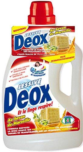 lessive deox au savon de marseille 30 lavages tous les produits poudre et liquide prixing. Black Bedroom Furniture Sets. Home Design Ideas