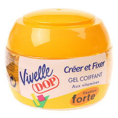Gel coiffant creer et fixer fixation forte VIVELLE DOP, 150ml