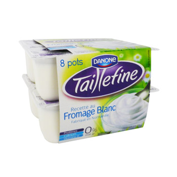Fromage blanc Taillefine Danone Nature 8x100g