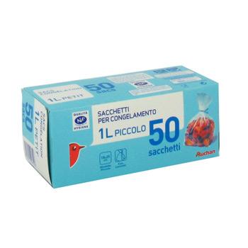 auchan sac congelation a soufflet petit modele x50 tous les produits emballages alimentaires. Black Bedroom Furniture Sets. Home Design Ideas