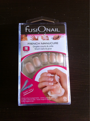24 ONGLES FRENCH MANUCURE COURTS BASE ROSE ET COLLE