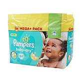 Couches Pampers Baby Dry T5 + Méga x84