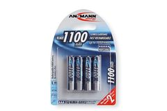 Ansmann Piles Réchargeables NiMH AAA/HR03 (Micro) Professional Type AAA 1100mAh (min. 1050mAh) 4 Piles