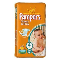 Pampers – Sleep & Play 4 maxi couches – lot de 50